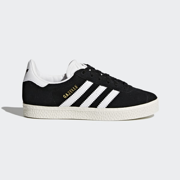 Kids Gazelle Core Black and White Shoes