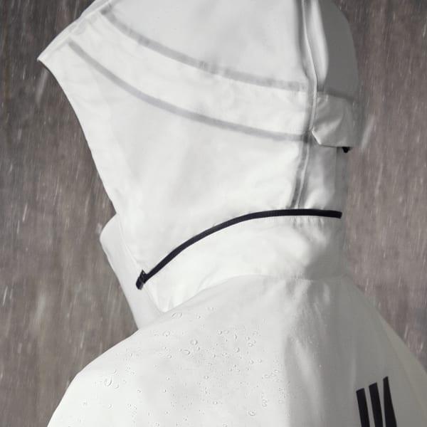 adidas Parley MYSHELTER RAIN.RDY Regenjacke Weiß | adidas