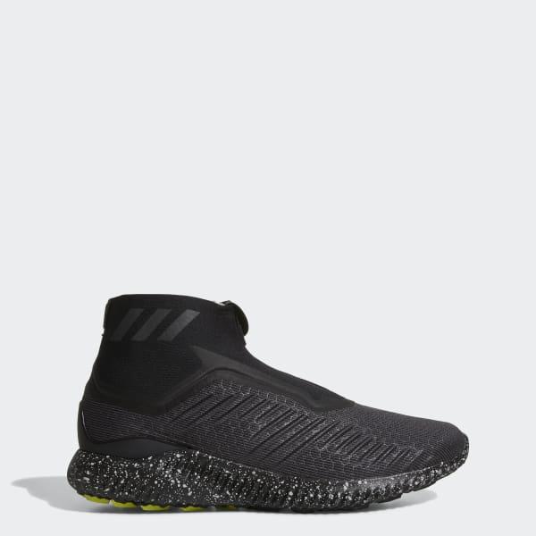 Adidas ALPHABOUNCE 5.8 ZIP SHOES BW1386 Black Utility White Men 's SZ 10.5