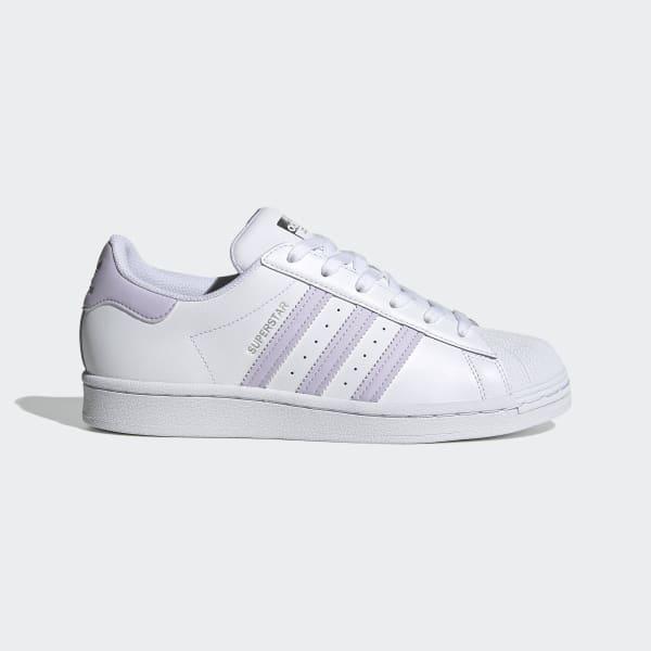 adidas superstar metallic purple