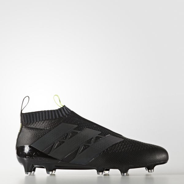 617ed4a86a553 ACE 16+ Purecontrol Primeknit Firm Ground Cleats Core Black   Core Black    Solar Yellow