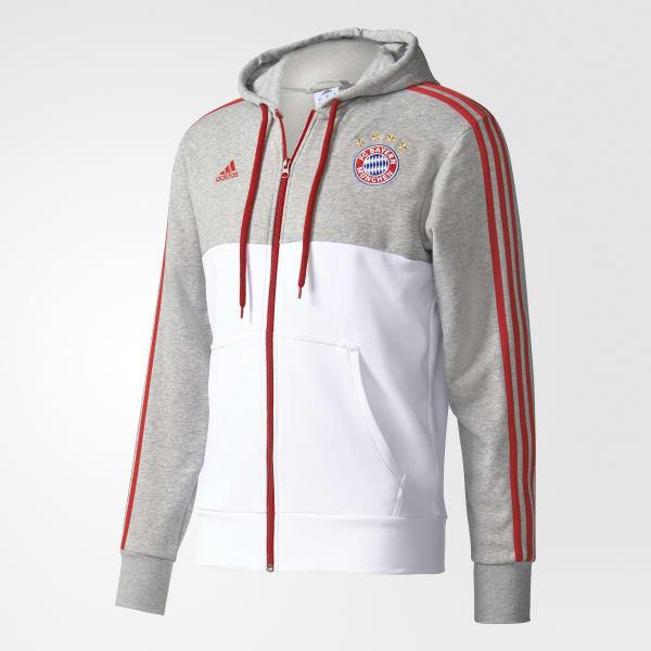 9743be83137b2 Polerón FC Bayern Munich - Gris adidas