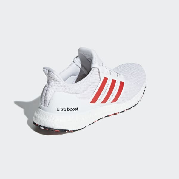 Adidas Originals Ultraboost 4.0 in White//Action Red DB3199 Free Shipping