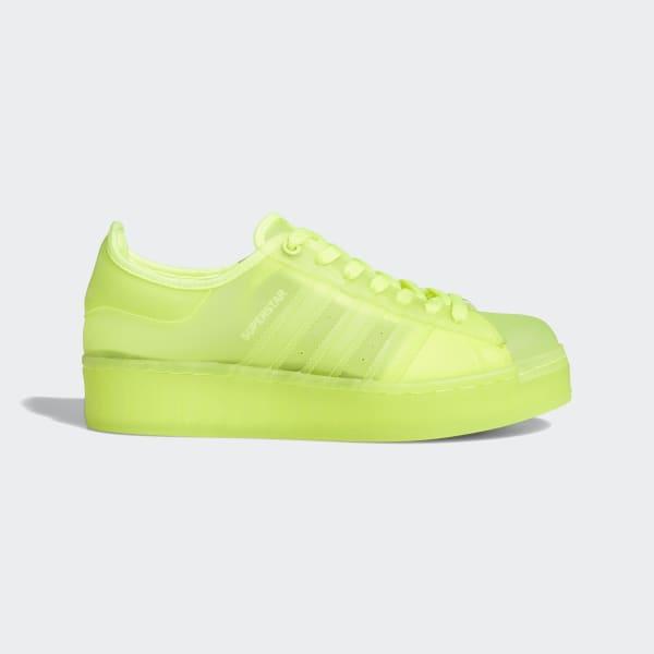 adidas superstar vert jaune rouge