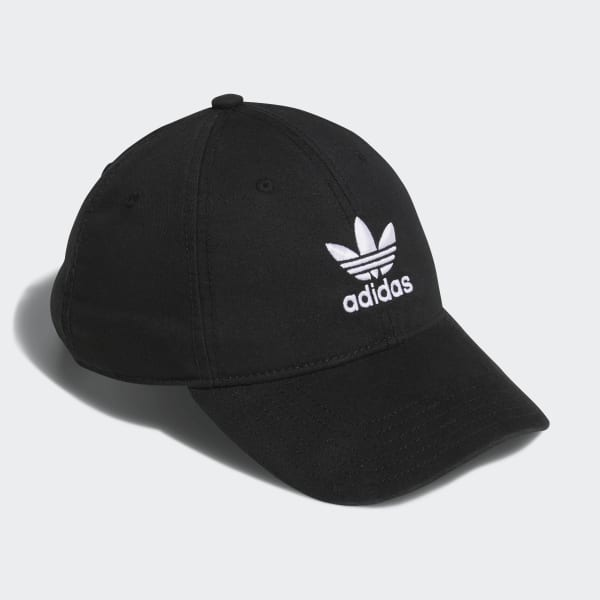 adidas Originals Relaxed Strap-Back Hat - Black  d6093446fe9