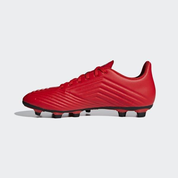 adidas Calzado de Fútbol PREDATOR 19.4 FxG - Rojo  d59fb5c517373