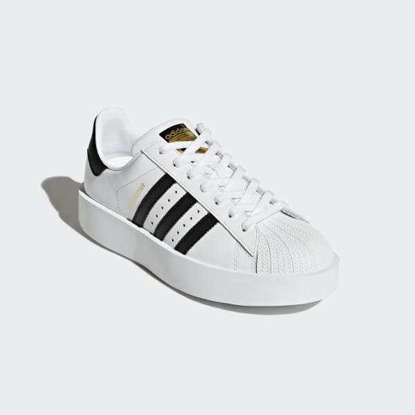 6bc89671dda2 adidas Superstar Bold Platform Shoes - White