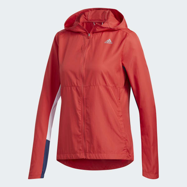 Veste Own the Run Hooded Wind Rouge adidas | adidas France