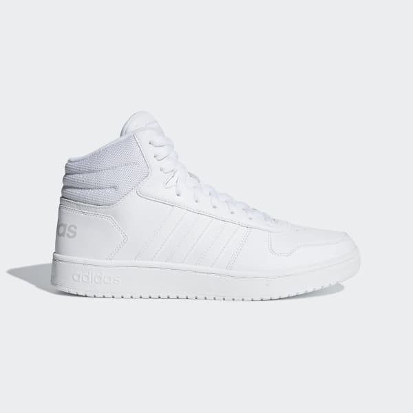 4cba5ac64955 adidas Hoops 2.0 Mid Shoes - White