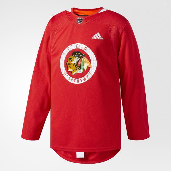 Adidas Blackhawks Authentic Practice Jersey - Big Apple Buddy
