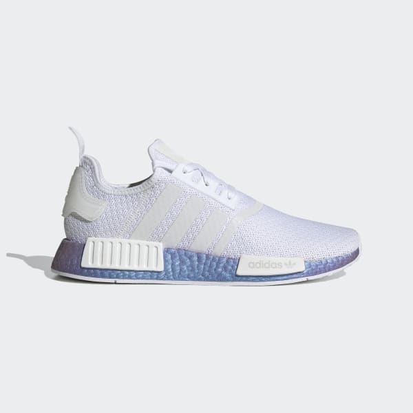 Men S Nmd R1 Silver Metallic And White Shoes Adidas Us