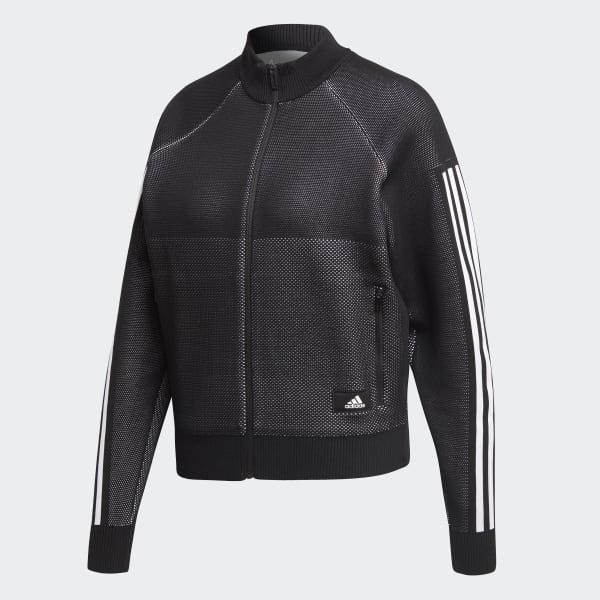 adidas ID Knit Trainingsjacke Schwarz | adidas Austria