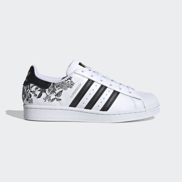 Por adelantado Hundimiento soltero  Women's Superstar Cloud White and Black Floral Shoes | adidas US