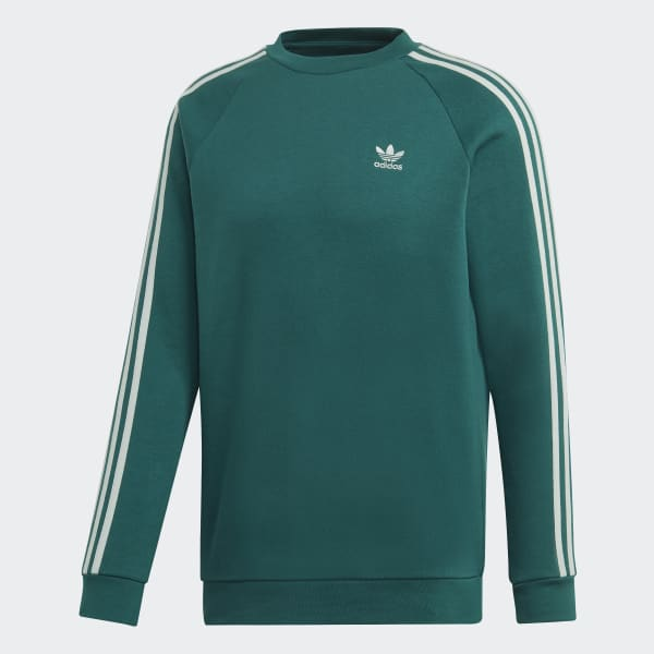 adidas 3 Streifen Sweatshirt Grün   adidas Austria