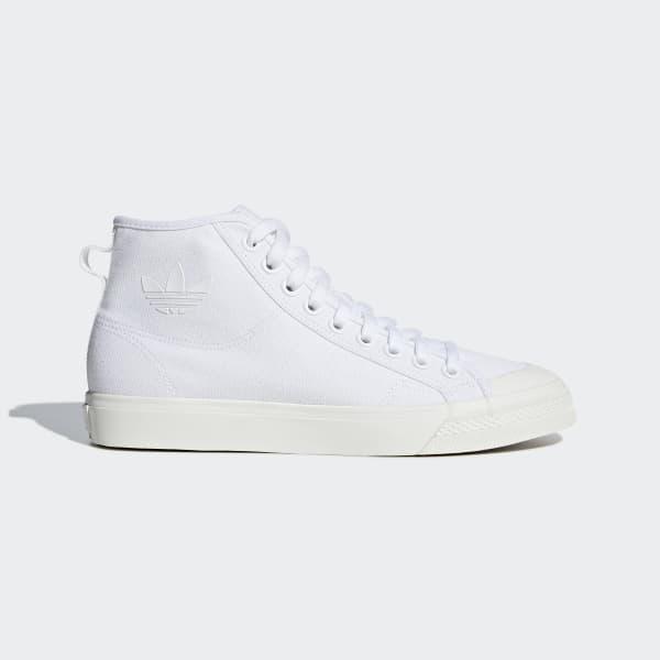 adidas Nizza High Top Shoes - White  a0a33d5db374