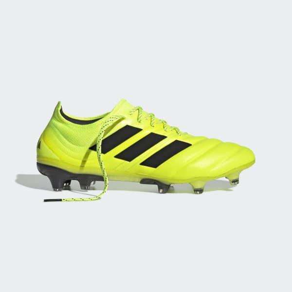 Inminente Oblea No puedo leer ni escribir  Botas de fútbol Copa 19.1 césped natural seco amarillas y negras para mujer  | adidas España