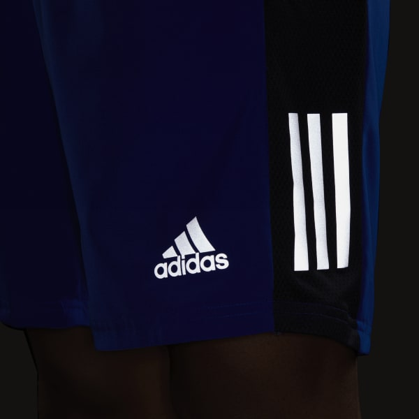 adidas Mens Own The Run Jacket Top Blue Sports Running Breathable Reflective