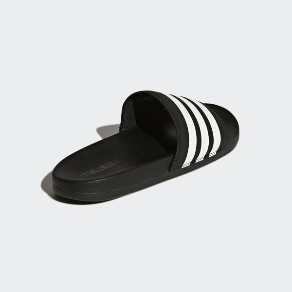 adidas adilette cloudfoam plus stripes slides black adidas us