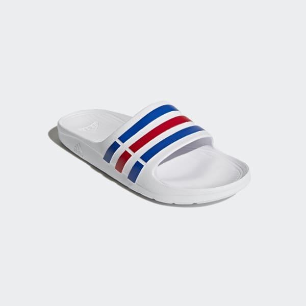 09ac9029 adidas Duramo Slides - White | adidas Philipines