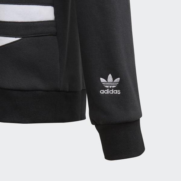 Adidas Original Felpa Trefoil Crew BlackWhite. Negozio