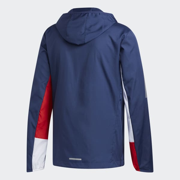 Veste Own the Run Hooded Wind Bleu adidas | adidas France