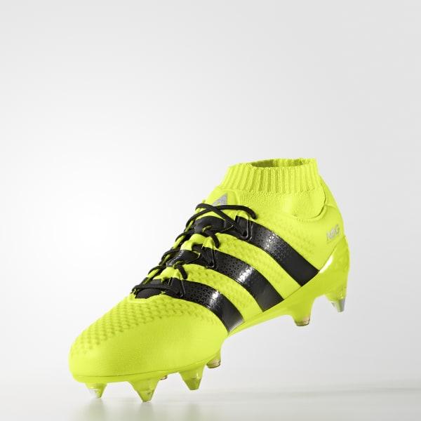 e30564ab2b419 Zapatos de fútbol ACE 16.1 PRIMEKNIT Terreno Firme - Amarillo adidas ...