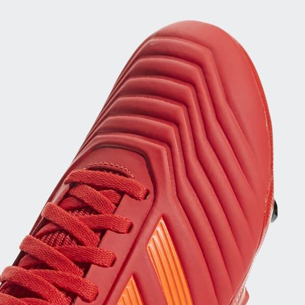 Chimpunes PREDATOR 19.3 FG J - Rojo adidas  a83e712963159