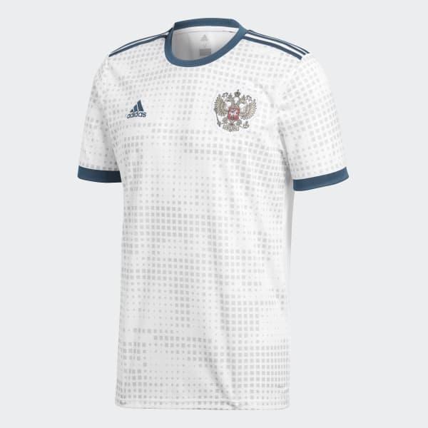 cf39dec1c8267 Camisa Oficial Rússia 2 2018 - Branco adidas