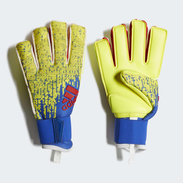 Adidas Long Finger Performance Gloves Weight Lifting: Adidas Predator Pro Fingersave Gloves - Yellow