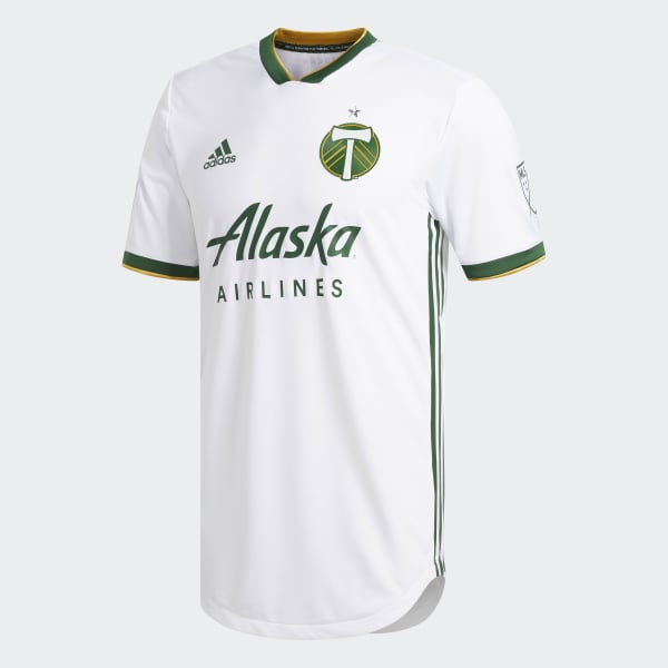 reputable site 57347 f1abe adidas Portland Timbers Away Authentic Jersey - White | adidas US