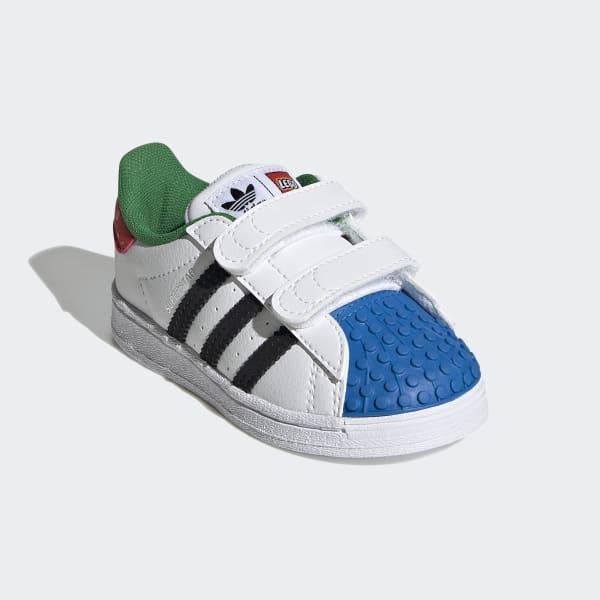 adidas Superstar x LEGO® Shoes - White | H03969 | adidas US