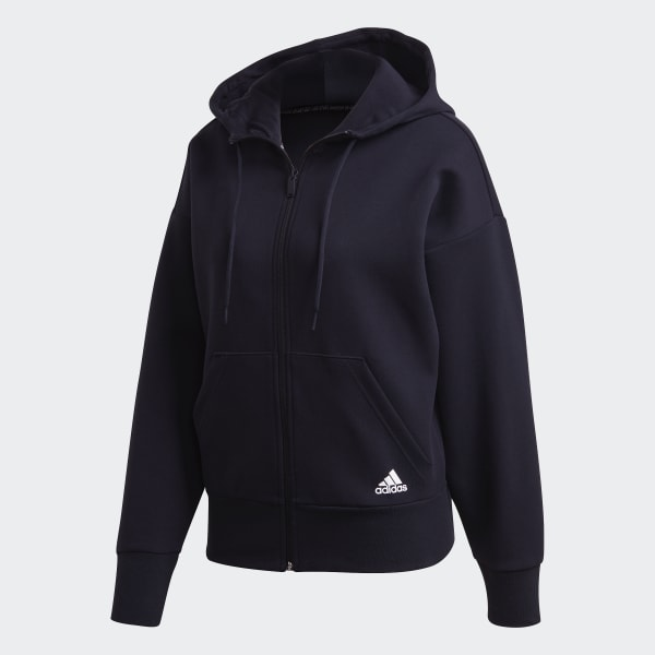 Adidas 3 Streifen Doubleknit Scuba Kapuzenjacke Sweatjacke