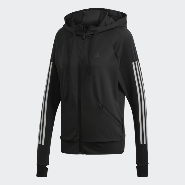 Grey adidas jacket with thumb hole Depop