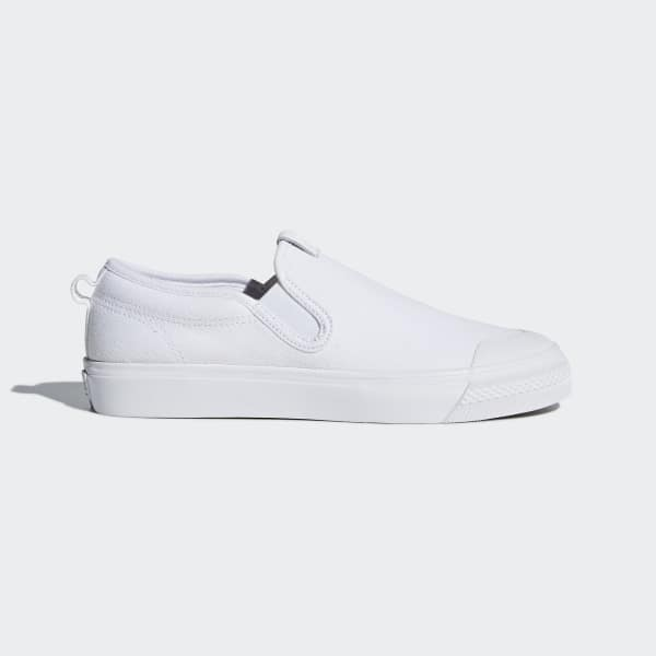 adidas Nizza Slip-on Shoes - White | adidas US | Tuggl