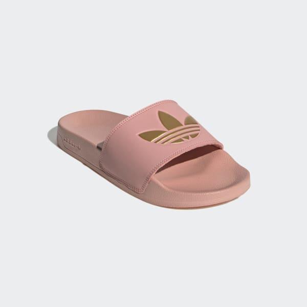 adidas sandals rose gold