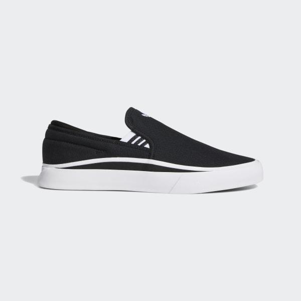 black slip on skate shoes
