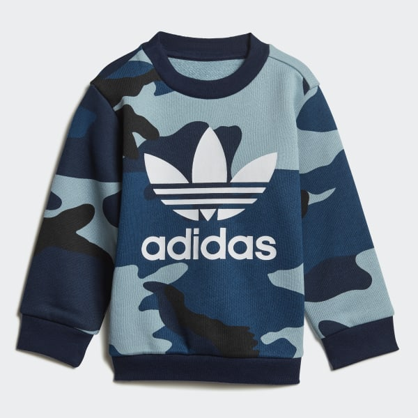 Camouflage Crewneck Sweatshirt Set