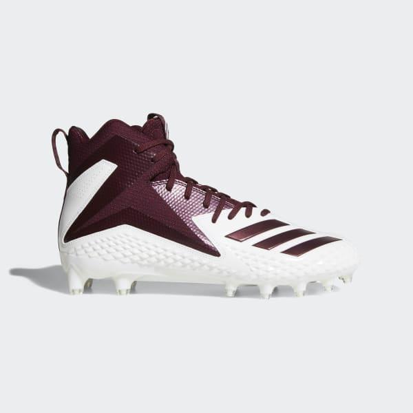 adidas Freak X Carbon Mid - Men's Football Shoes - White/Maroon/Maroon DB0570