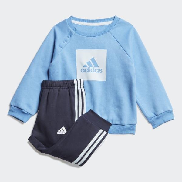 adidas I 3 Stripes Jogger Fleece niebiesko szary
