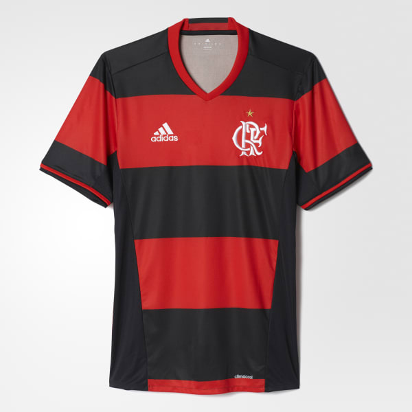Camisa Flamengo 1 - Preto adidas  eedc54d286874