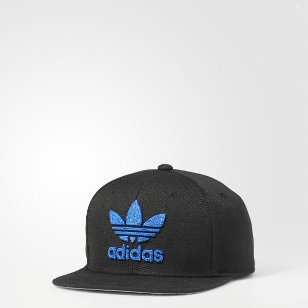 d31acf726da adidas Trefoil Chain Snapback Hat - Black