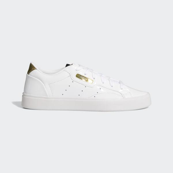 adidas white platform trainers