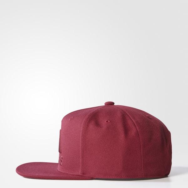 Gorra de Visera Plana - Rojo adidas  a9040325ea8