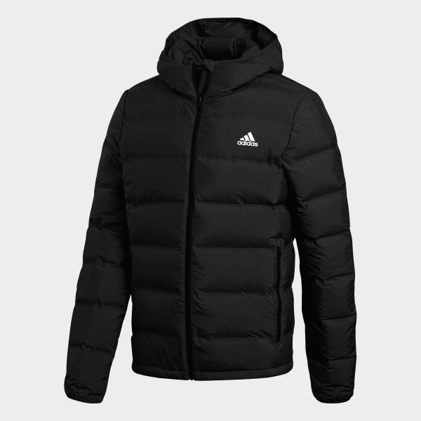 adidas Helionic Hooded Down Jacket - Black | adidas US