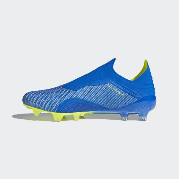 adidas Botas de Futebol X 18+ – Piso firme - Azul  da5032a3c8d11