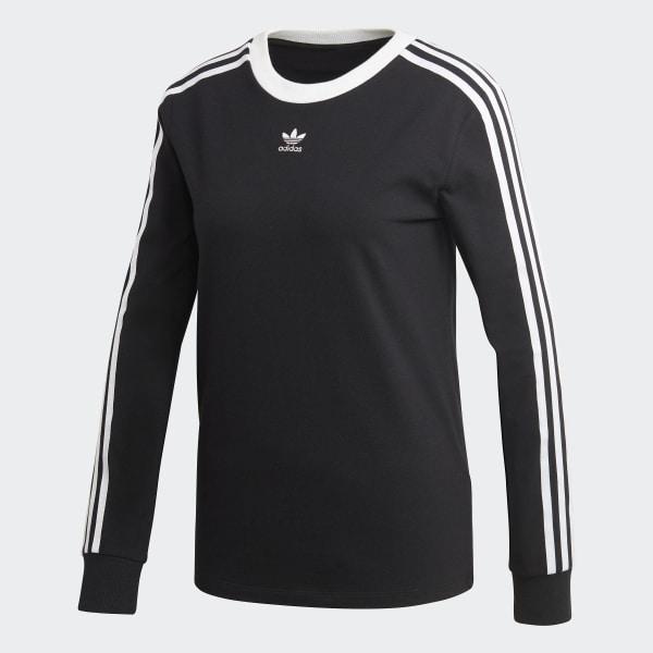 19190858a Camiseta 3 Stripes Ls - Preto adidas | adidas Brasil