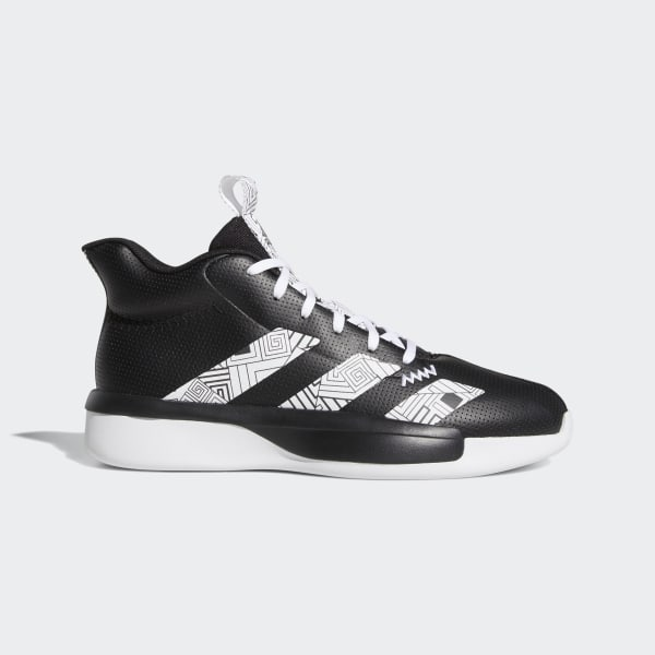 black and white adidas basketball shoes