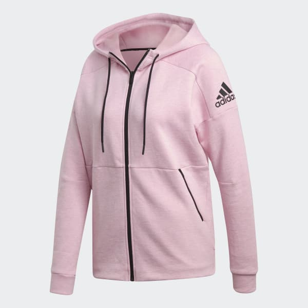 Chaqueta con capucha ID Stadium Rosa adidas | adidas España