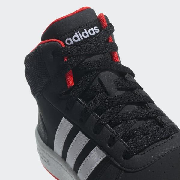 4e3b5a37 adidas Баскетбольные кроссовки Hoops 2.0 Mid - черный   adidas Россия