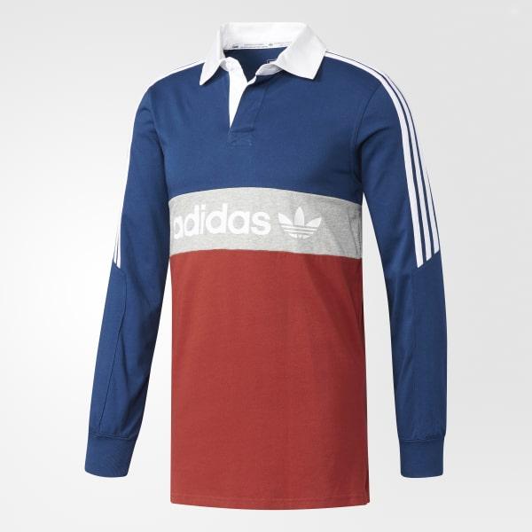 8cc9bf0276b adidas Rugby Nautical Polo Shirt - Red | adidas US